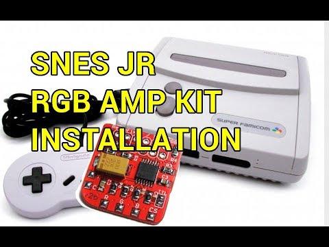 SNES Jr RGB Amp Kit Installation