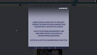 Eurosport Player FAIL – Ausfall Köln gg. HSV – Ursachen?
