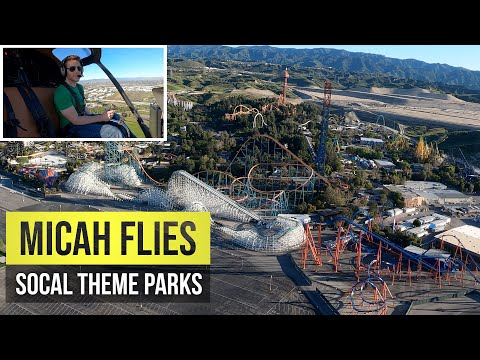 Helicopter View of SoCal Theme Parks | L.A. Shutdown