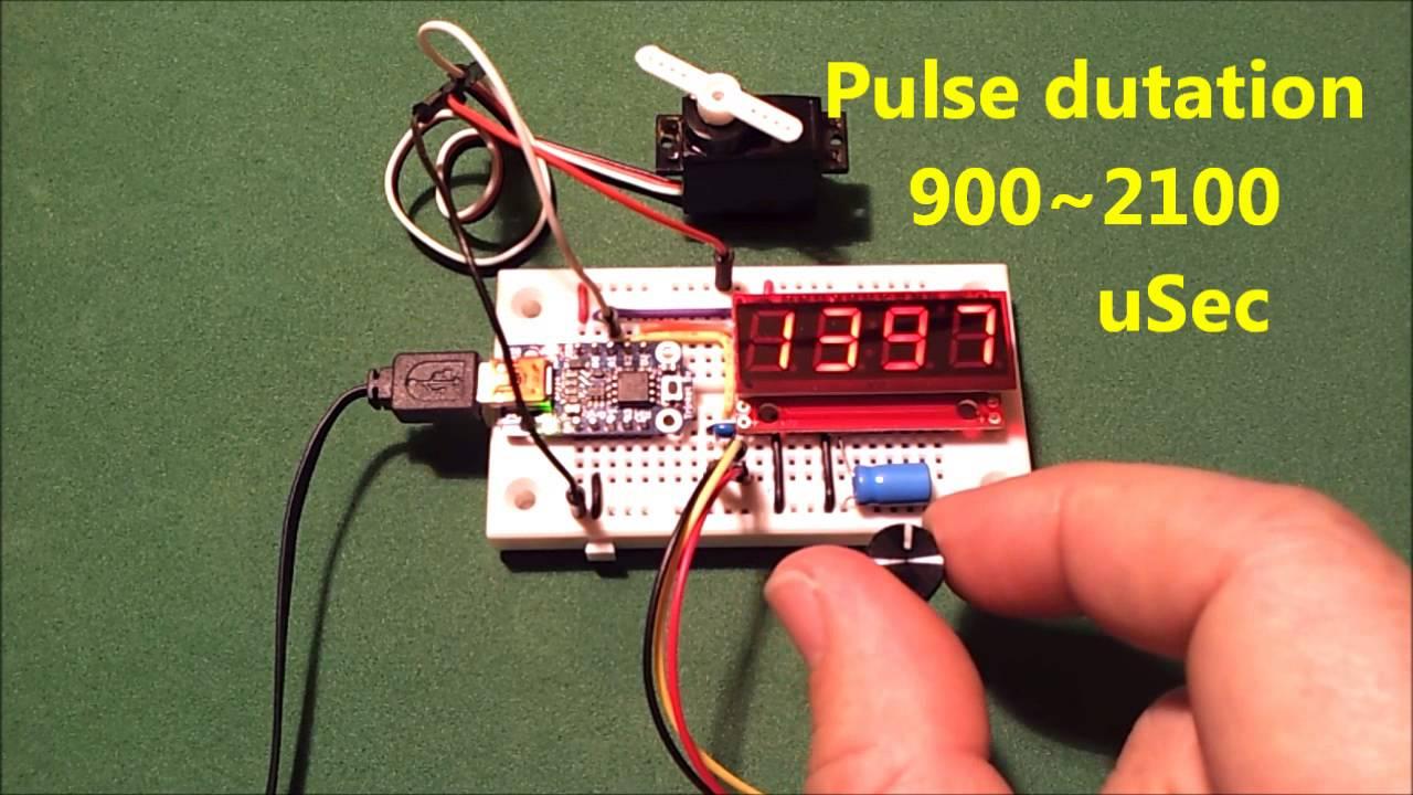 Arduino Trinket And Rc Servo Youtube Pulser Tester Testing Servos Pwm