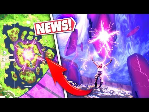 *NEWS* LEAKY LAKE CUBE STONES *STRIKES* LIGHTNING AT PLAYERS DURING STORM PHASE! SEASON 6 UPDATE! BR