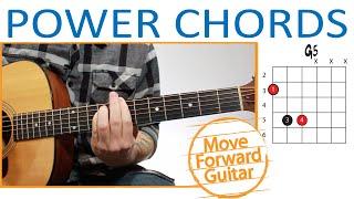 Power Chords Guitar - (G5, A5, B5, C5 etc…)