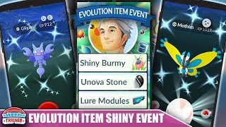 TOP 5 TIPS for *EVOLUTION EVENT* - UNOVA STONE TASK, SHINY BURMY & 2X EVOLVE XP   POKÉMON GO