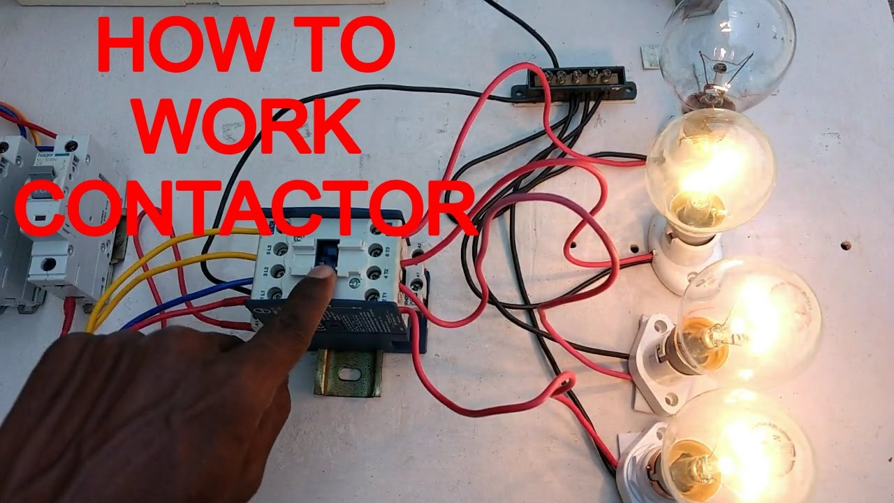 wiring up a contactor wiring diagram how to work contactor how to connect contactor in [ 1280 x 720 Pixel ]