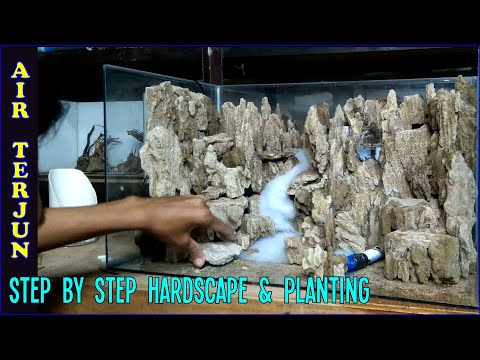 Tutorial Aquascape Waterfall Menggunakan Batu Pasir Youtube