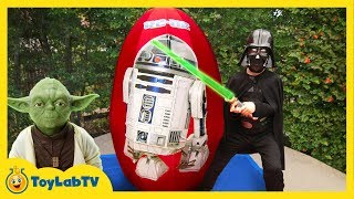 GIANT EGG SURPRISE OPENING! Star Wars The Force Awakens Toys Kids Video