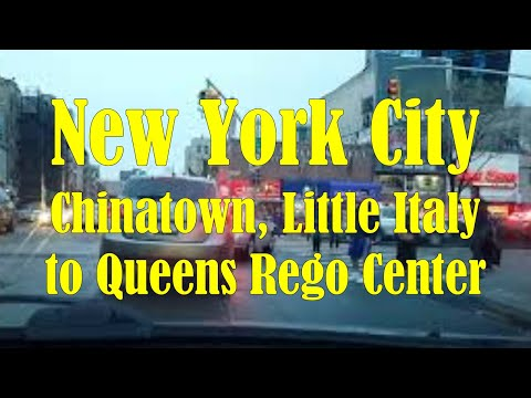 4/16/16 Driving in NYC - China Town, Little Italy to Queens Rego Center