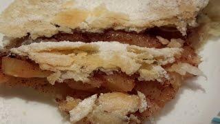 Рецепт слоеного теста.  Волшебный яблочный пирог. Очень вкусно.