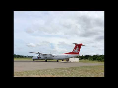 LAM Mozambique Flight TM 123 -  Inhambane to Maputo