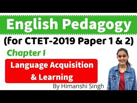 English Pedagogy for CTET-2020 | Language Acquisition & Learning | Chapter-01