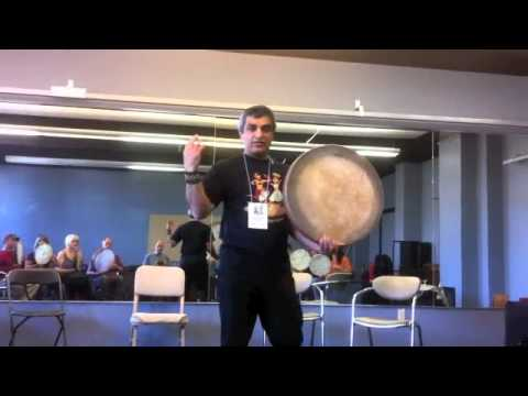 Ahmad Yousefbeigi teaches Kurdish Daf