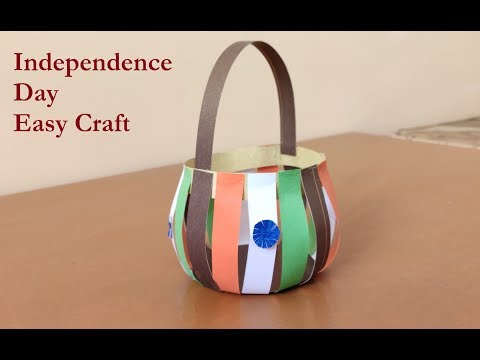 Independence day craft | Easy paper basket | DIY crafts | Lets do our passion