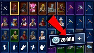 TOUT MES SKINS, PLANEURS ET PIOCHES de FORTNITE BATTLE ROYALE !