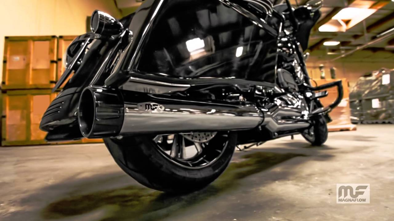 Magnaflow Harley-Davidson Touring Motorcycle Performer 2-1 Chrome Exhaust  Sound Clip