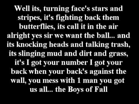 Kenny Chesney- The Boys of Fall with Lyrics