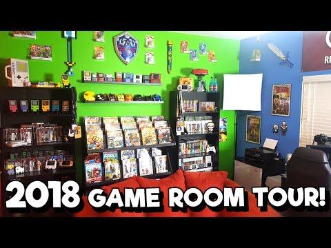 2018 Game Room Tour! - 30+ Unique Platforms, 1500+ Games! | Nintendrew