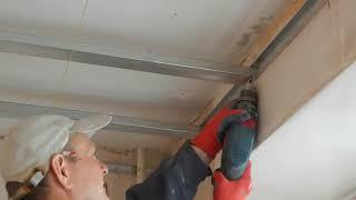 Гипсокартон. Монтаж потолка.  Часть № 1 Металлический каркас/Drywall. Installation of the ceiling