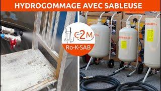c2m-negoce.com vidéo hydrogommage sableuse