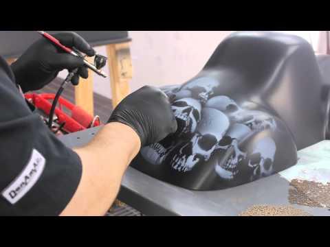 Demo of DanAm Pro Skulls Stencils with Mickey Harris