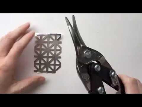 Make Your Own Metal Snowflake Ornaments - DIY