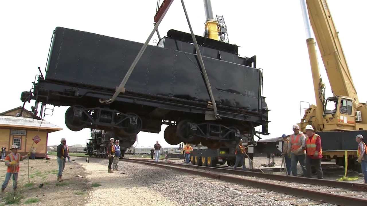 Mar Crane Lift Of Railroad Engines And Tender Boxes Youtube