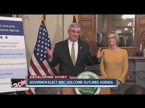 Governor-elect Eric Holcomb outlines legislative agenda