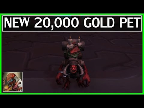 New 20,000 Gold Pet From Archaeology - WoW Legion Gold Guide