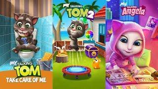 My Talking Tom 2 vs My Talking Tom - My Talking Angela Gameplay