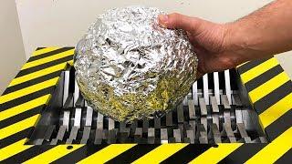 EXPERIMENT Shredding ALUMINUM FOIL BALL