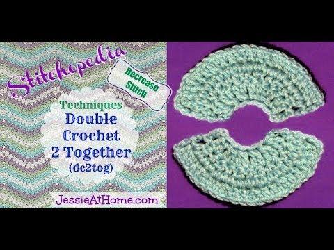 Stitchopedia ~ Techniques: Double Crochet 2 Together (dc2tog)