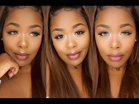 How to Choose Coloured Contact Lenses for Dark Skin | HubPages |Blue Contacts On Black People