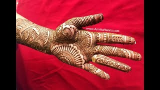 10 मिनट में सुंदर राजस्थानी दुल्हन मेहंदी सीखें | RAJASTHANI TRADITIONAL WEDDING MEHENDI