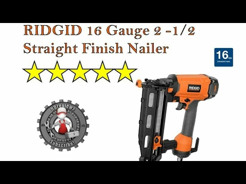 Ridgid 16-Gauge 2-1/2 in. Straight Nailer Review - YouTube