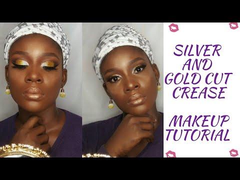 silver and gold cut crease makeup tutorial  niella's