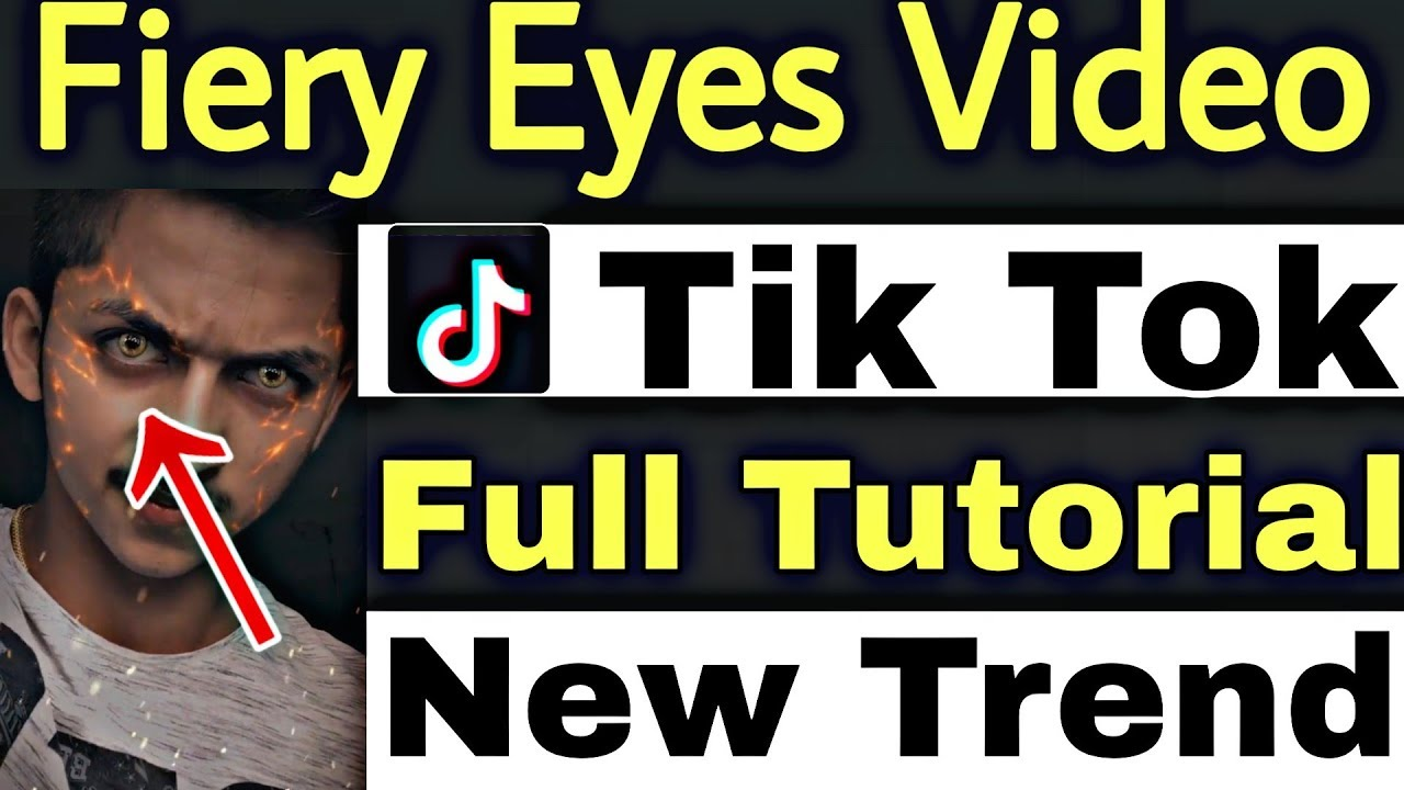 image Fiery Eyes Video Tik Tok Musically Tutorial | Tik Tok New Trend Hindi