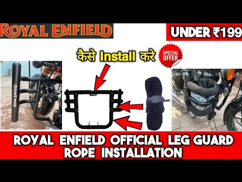 royal-enfield-leg-guard-rope-fitting-&-installation-at-home-||-protect-your-bike-from-scratch-||diy