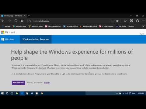 Windows Insider program what is it and how to start getting test builds of Windows 10