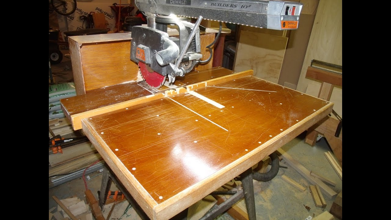 Exceptionnel The Radial Arm Saw: Tables And Fences (Part 1)