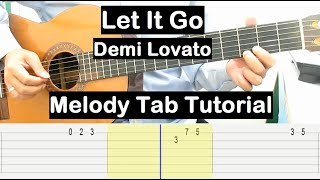 Let It Go Guitar Lesson Melody Tab Tutorial Guitar Lessons for Beginners