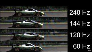 [Slow motion] 240Hz vs 144Hz vs 120Hz vs 60Hz - Monitor refresh rates thumbnail