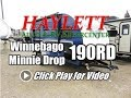 2018 Winnebago 190RD Minnie Drop Full Bath Rear Dinette Front Bed Teardrop Ultralite Travel Trailer