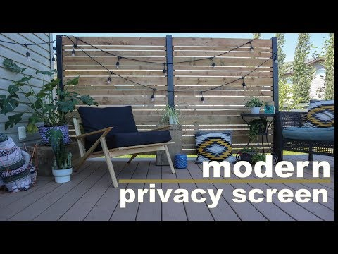 DIY Deck Privacy Screen // Do It Yourself Privacy Wall