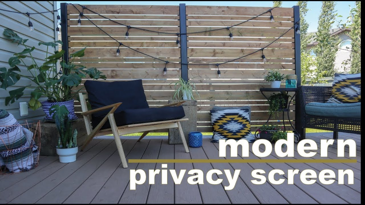 Diy Deck Privacy Screen Do It Yourself Wall