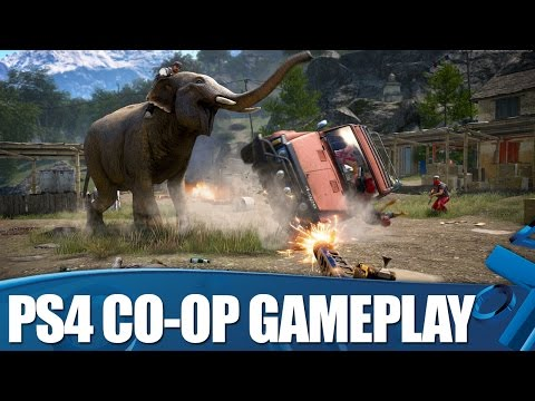 Far Cry 4 Co-op Gameplay - Open World Co-op on PS4