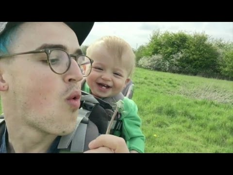 Adorable Baby Giggles Uncontrollably at Dandelion