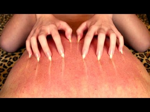 Pointed nails back scratching 10