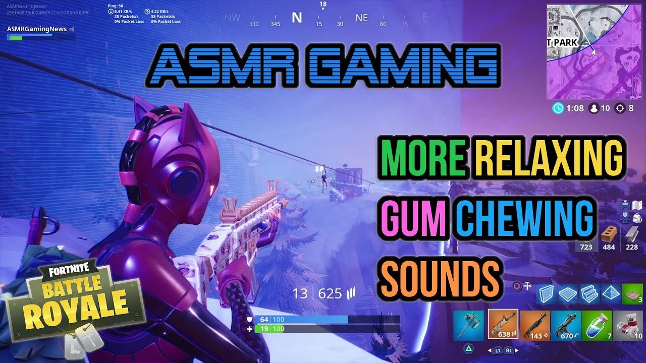 ASMR Gaming | Fortnite More Relaxing Gum Chewing Sounds (2 Games) ★Controller Sounds + Whispering☆