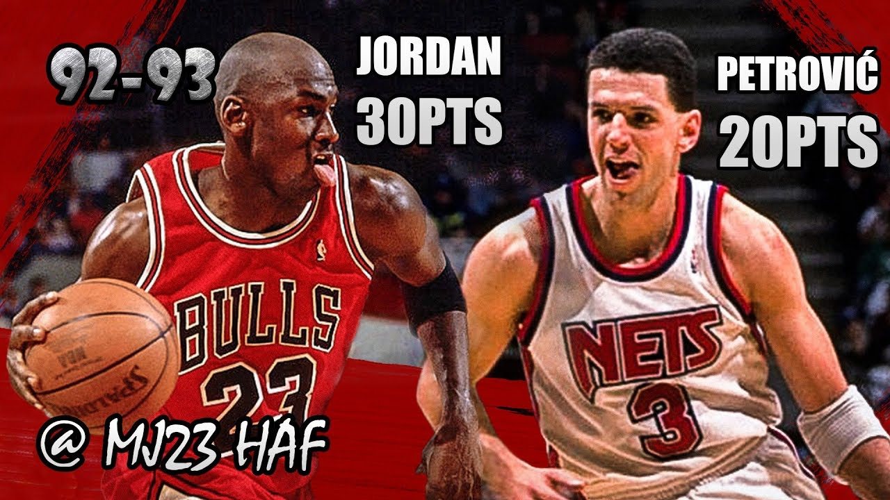 Activo voltaje empleo  Michael Jordan vs Dražen Petrović Highlights Bulls vs Nets(1993.01.21)-50p  all,Got SHOT IN THE FACE! - YouTube