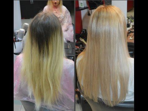 Калифорнийское мелирование, жемчужный блонд от Инессы Мятенко