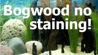 How To Prevent Bogwood And Driftwood From Staining (tannin) Your Aquarium Water Quickly.